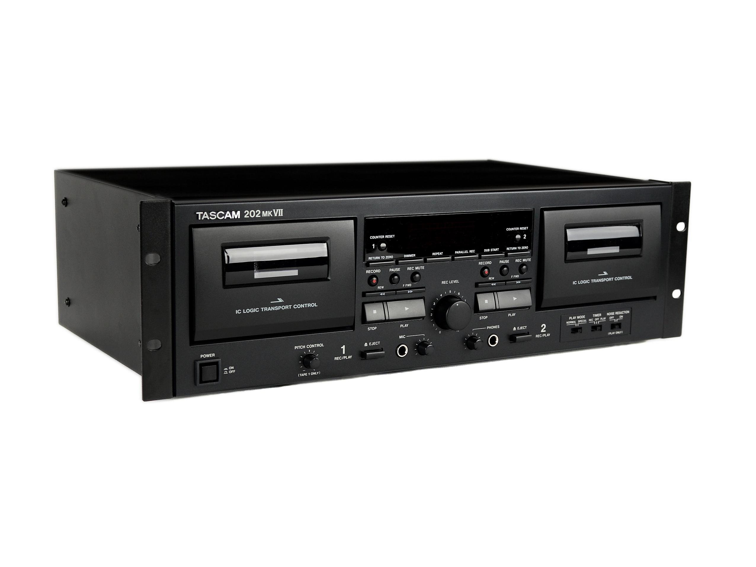 202mkVII Retro-modern Double Cassette Deck with USB Port by TASCAM