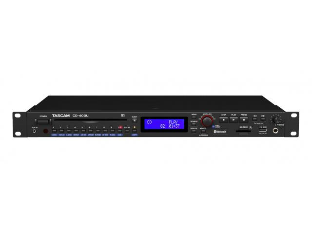 CD-400U Professional Media Player-AM/FM Receiver with Content Playback Option by TASCAM