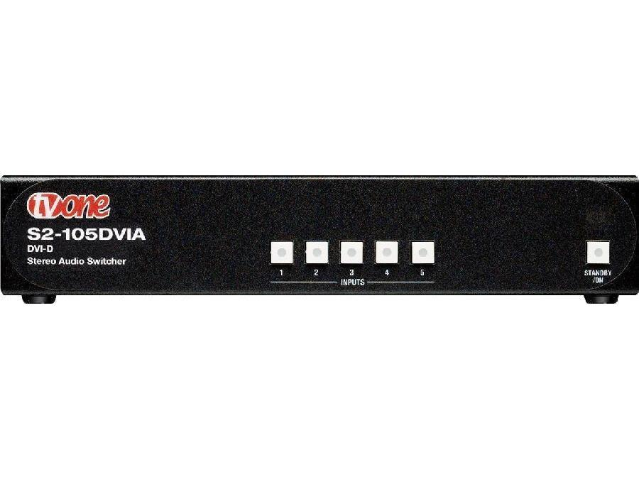 S2-105DVIA 5x1 DVI-D and Stereo Audio Switcher by TV One