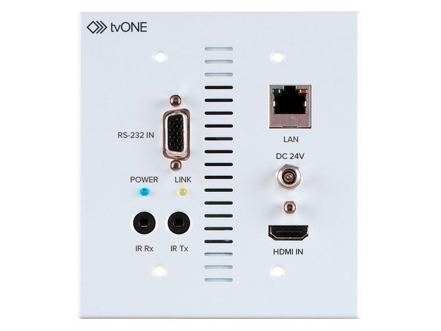1T-CT-653-USWP HDMI 4K UHD HDBaseT 5-Play Wallplate Extender (Transmitter) by TV One