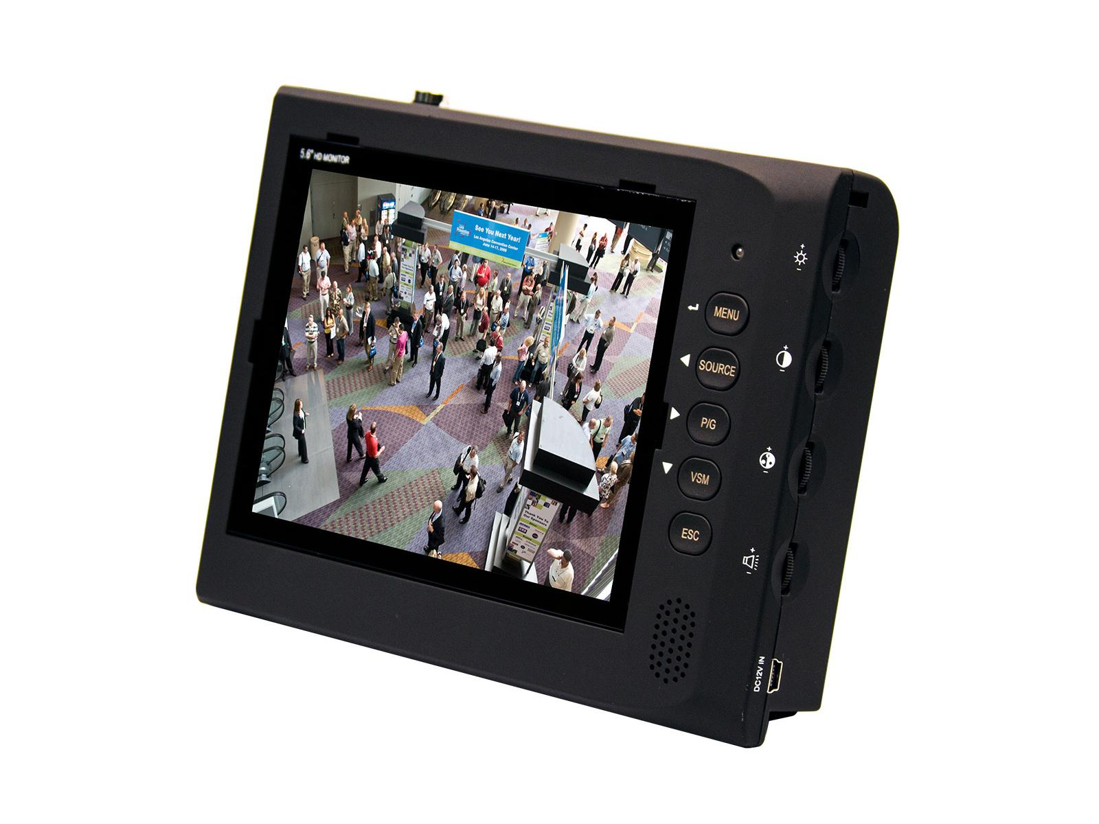 VZ-56SM 5.6 inch 640x480 Analog LED CCTV Test Monitor with Audio Support by ViewZ