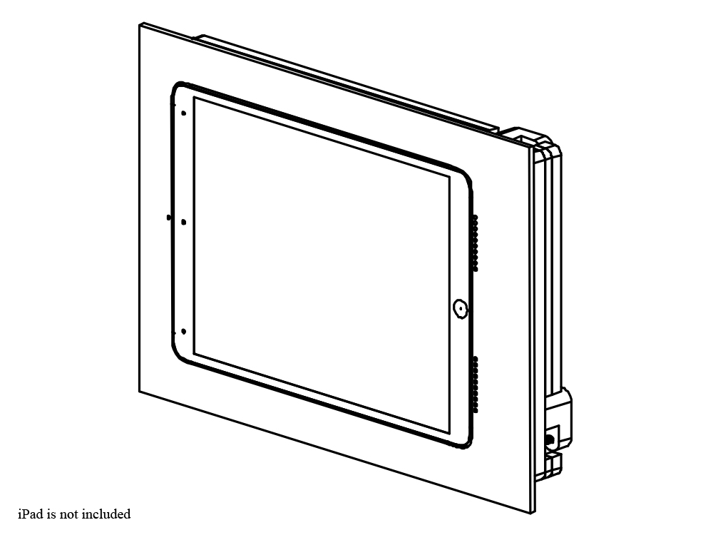 002-1-473-WO Retrofit In-Wall Mount for iPad Air 3 - Unpainted by Wall-Smart