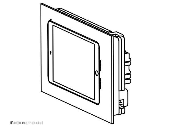 002-1-475-WO Retrofit In-Wall Mount for iPad Mini 5 - Unpainted by Wall-Smart