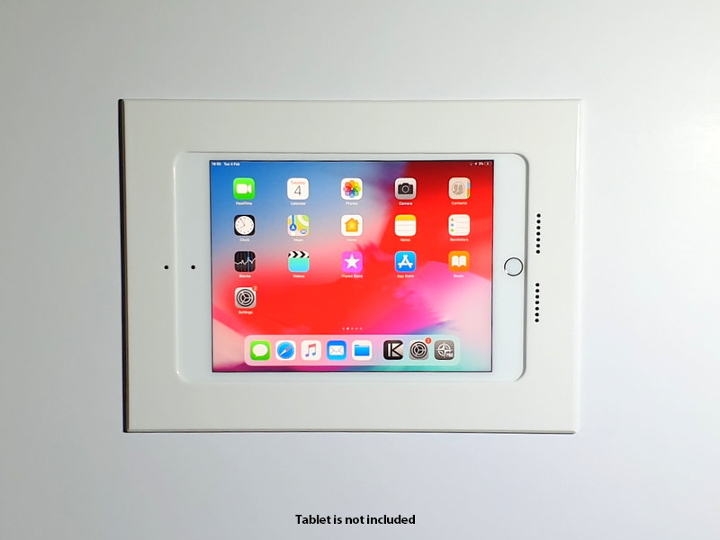 002-1-609-WH Retrofit Wall Mount for iPad mini 5th/White by Wall-Smart