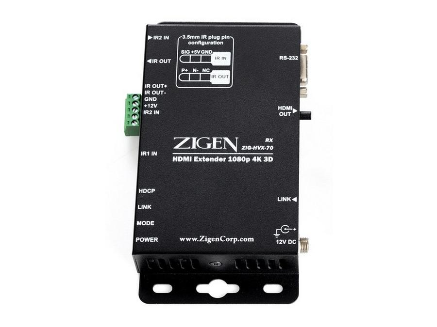 ZIG-HVX-70-R 4K/2K HDMI/HDBaseT Extender (Receiver) over single CAT5/6 up to 70m by Zigen