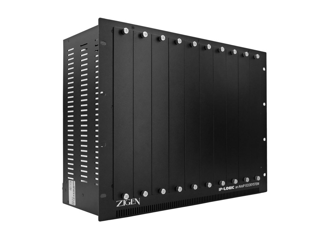 ZIG-ILC 8U Rack cage for up to 10 transmitters with auto cooling fan and control by Zigen