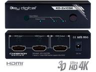 KD-2x1CSK 2 Inputs to 1 Output HDMI Switcher Supports Ultra HD/4K by Key Digital