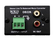 DB226 Stereo Line to Balanced Mono Converter by Rolls