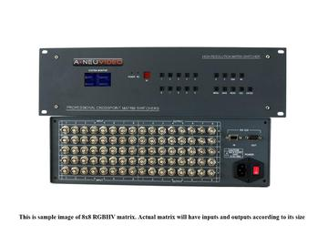 ANI-RGB6464 64x64 High-Performance RGBHV (Component) Matrix Switcher by A-NeuVideo
