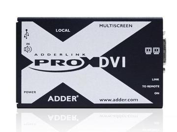 X-DVIPRO-MS2-US Dual Head DVI/Audio and 4-port USB CATx Extender by Adder