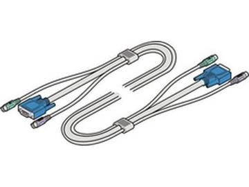 VKVM-5M Tri-Cable VGA and 2x PS/2 5m 15ft by Adder