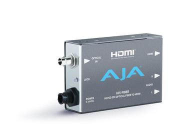 Hi5-Fiber Fiber optic HD/SD-SDI to HDMI Converter(Embedded HD/SD-SDI audio) by AJA