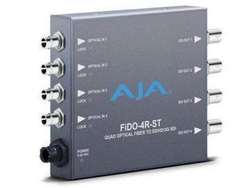 FiDO-4R-ST 4-channel Optical Fiber to 3G-SDI Converter by AJA