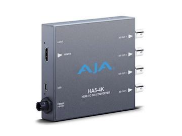 HA5-4K 4K HDMI to 4K 4 x 3G-SDI Converter w support HD-HDMI to HD SDI by AJA