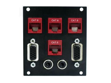 SP3212AV 4 Keystone 2 VGA 2 3.5MM Sectional Plate/3 Slots by Altinex