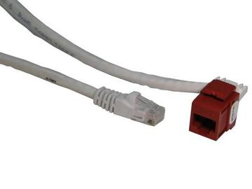 CM11350 Cat-6 Rj-45  F/M 6Ft  Red Snap by Altinex