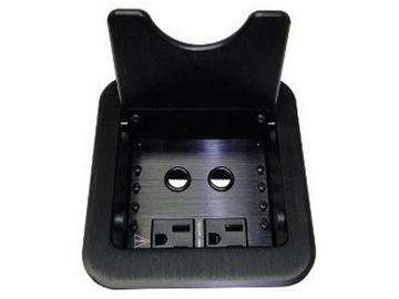 CNK261 CABLE-NOOK JR Tabletop Box w US AC Power/Grommets/Black by Altinex