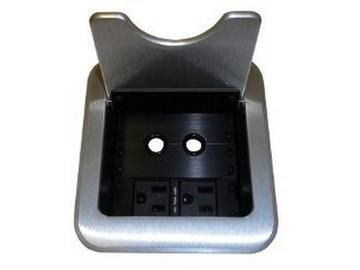 CNK261S CABLE-NOOK JR Tabletop Box w US AC Power/Grommets/Silver by Altinex