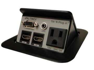 TNP120C TILT N PLUG JR Tabletop Box VGA/Audio/RJ-11/RJ-45/Power by Altinex