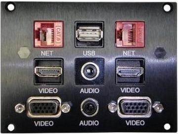 TNP528 TILT N PLUG Tabletop Box US Power/HDMI/VGA/USB/3.5 mm by Altinex