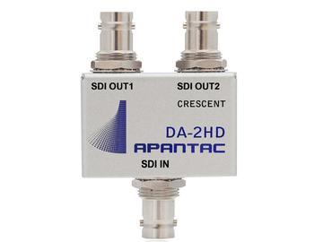DA-2HD Passive 1x2 Triple-rate SDI/ASI/Composite Distribution Amplifier by Apantac