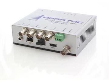 MicroQ-s 4x2 Simple Quad Spliter (3G/HD/SD-SDI to HDMI/SDI) by Apantac