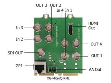 OG-MicroQ-SET-3 Fixed Video Quad Split w Full Screen capability w Module by Apantac