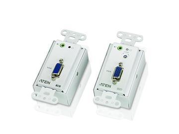VE156 VGA Over Cat5 Wall plate Extender (Transmitter/Receiver) Kit by Aten