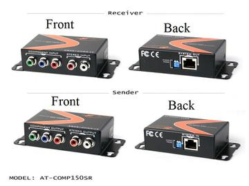 AT-COMP150SR-b Component Video Extender(Transmitter/Receiver) Kit with 2-Ch Audio by Atlona
