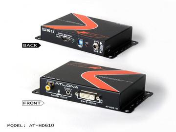 AT-HD610-b DVI with Analog/Digital Audio to HDMI Converter and Embedder by Atlona