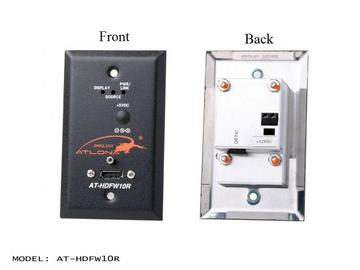 AT-HDFW10R-b Wall Plate Style HDMI Receiver over single Multi Mode Fiber with HDCP and EDID Support by Atlona