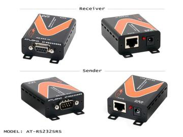 AT-RS232SRS RS-232 Extender(Receiver/Transmitter) Kit over Twisted Pair Cat5/6 up to 825ft by Atlona