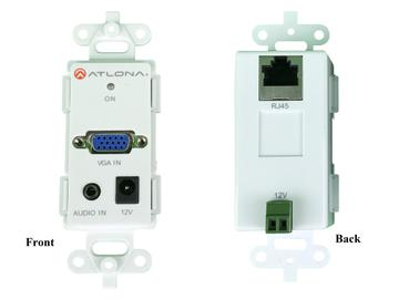 AT-VGAWP-SR VGA Video and Audio Wall Plate UTP/CAT5 Extender (Transmitter/Receiver) Set by Atlona