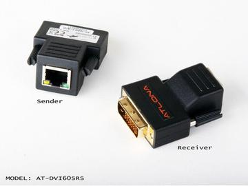 AT-DVI60SRS-b Passive DVI Extenders(Transmitter/Receiver) Set Over single Cat5/6/7 by Atlona