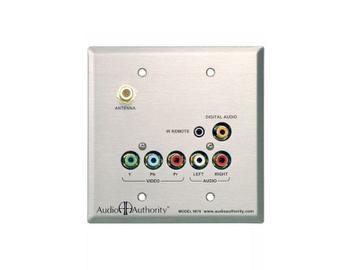 9878 Dual Cat5 Stainless Wallplate RCA Extender (Receiver) by Audio Authority