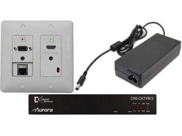DXW-2E-SC-A-W HDBaseT HDMI/VGA/LAN WP Extender with IP/Amp White by Aurora Multimedia
