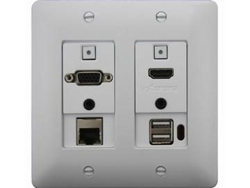 DXW-2EU-W HDMI/VGA/Ethernet/USB Wall Plate Extender (Transmitter) White by Aurora Multimedia