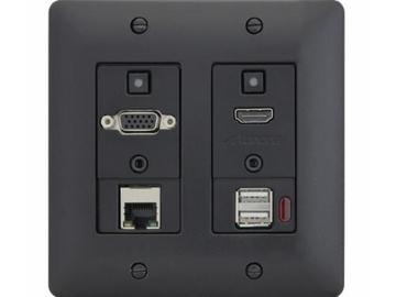 DXW-2EUH-B HDMI/VGA/Ethernet/USB Host WP Extender (Transmitter) Black by Aurora Multimedia