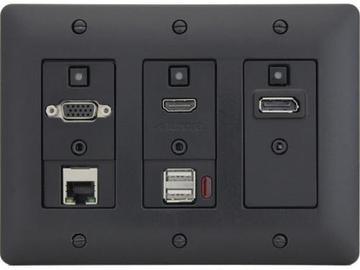 DXW-3EU-B HDMI/VGA/DP/Net/USB Device WP Extender (Transmitter) Black by Aurora Multimedia