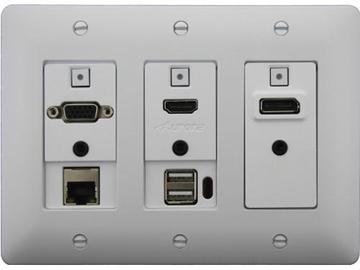 DXW-3EUH-W HDMI/VGA/DP/Net/USB Host WP Extender (Transmitter) White by Aurora Multimedia