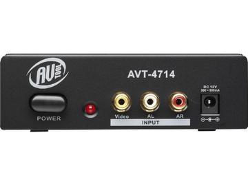 AVT-4714 1x4 Composite Video and Audio Distribution Amplifier by AV-Tool