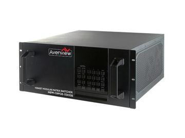 MSW-HBT-C6POE-32X32E 32x32 HDBaseT Modular Matrix IR/RS232/POE by Avenview