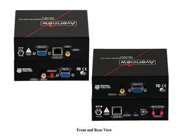 VGA-C5A-SET VGA and Audio Extender(Transmitter/Receiver) Set over CAT5 with RGB Delay Control by Avenview
