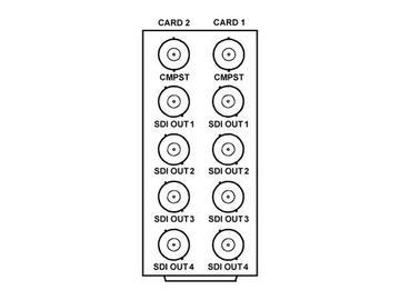 RM20-9021-A/S 20-slot Frame Rear I/O Module (Split) Comp by Cobalt Digital