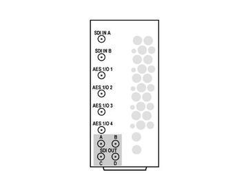 RM20-9985-F-HV2-DIN 20-slot Frame R I/O Mod (St W/Hi-Vent) 3G/HD/SD-SDI by Cobalt Digital