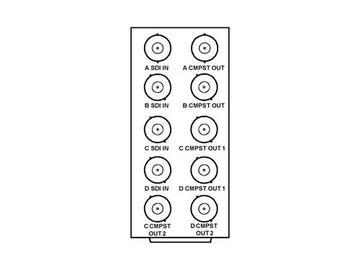 RM20-9018-A 20-slot Frame R I/O Mod (St W)Ch A:1O/Ch B:1O/Ch C:2O/Ch D:2O by Cobalt Digital