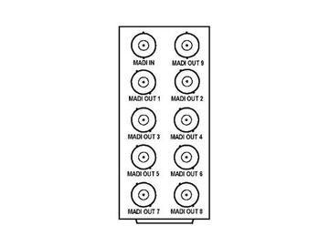 RM20-9257-A 20-slot Frame Rear I/O Module (Stand Wdth) MADI by Cobalt Digital