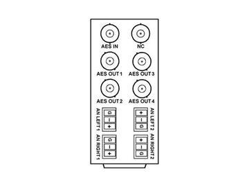 RM20-9262-B 20-slot Frame Rear I/O Module (Stand Wdth) AES Input by Cobalt Digital