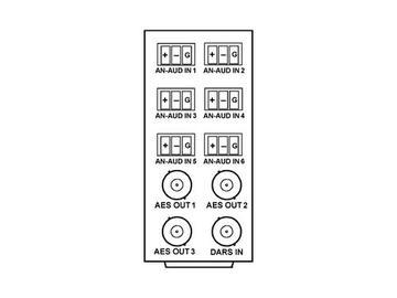 RM20-9341-B 20-slot Frame Rear I/O Module (Stand Wdth) Analog Audio by Cobalt Digital
