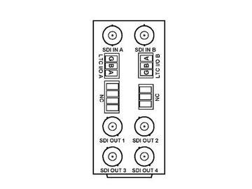 RM20-9392-D 20-slot Frame Rear I/O Module (Stand Wdth) 3G/HD/SD-SDI by Cobalt Digital